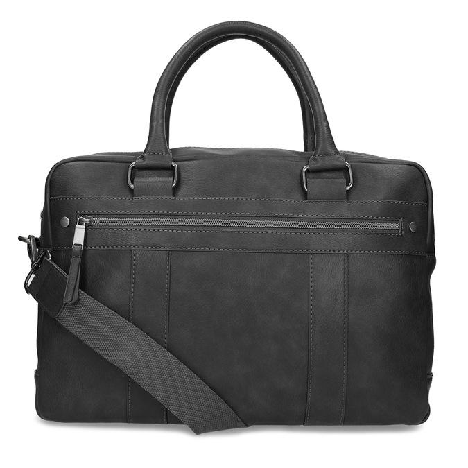 Šedá pánská taška s popruhem bata, šedá, 961-2713 - 16