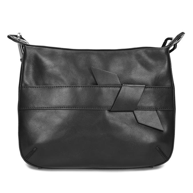 Černá Crossbody kabelka s prošitím bata, černá, 961-6992 - 26
