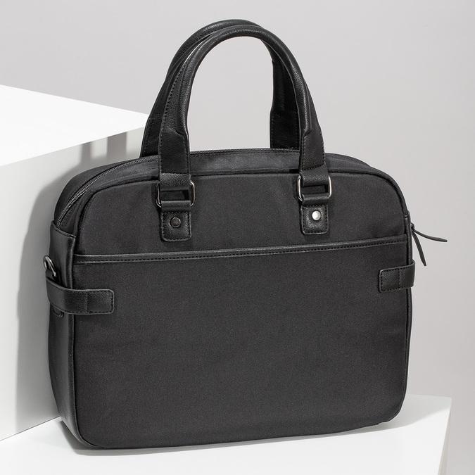 Pánská černá taška s popruhem bata, černá, 969-6792 - 17