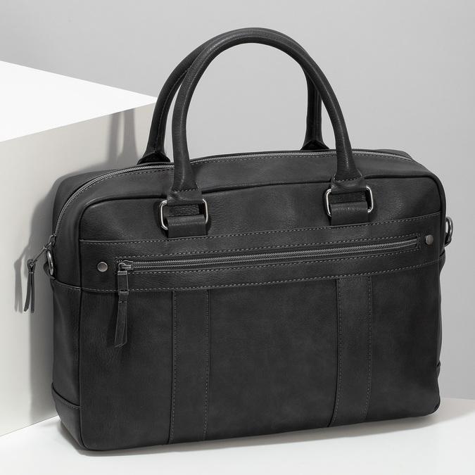 Šedá pánská taška s popruhem bata, šedá, 961-2713 - 17