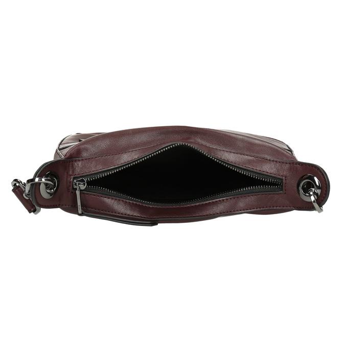 Vínová Crossbody kabelka s prošitím bata, červená, 961-5992 - 15