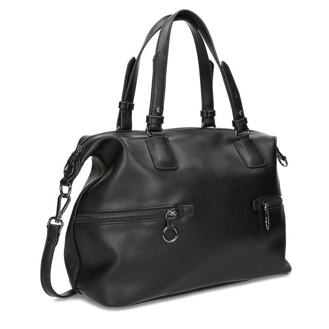 Černá dámská kabelka s popruhem bata, černá, 961-6993 - 13