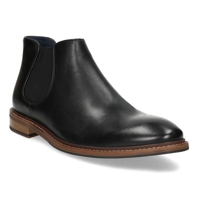 Pánská kožená kotníčková Chelsea obuv bata, černá, 814-6601 - 13