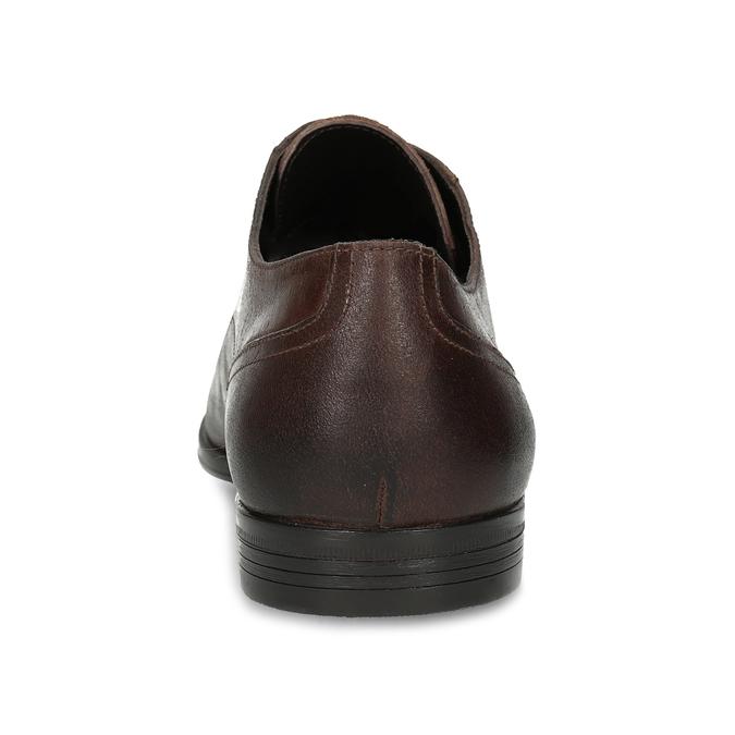 Hnědé pánské kožené Derby polobotky bata, hnědá, 826-4603 - 15