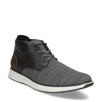 Šedá pánská kotníčková obuv s hnědým detailem bata-red-label, šedá, 821-2673 - 13