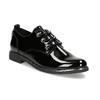 Černé lakované polobotky dámské bata, černá, 521-6601 - 13