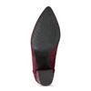 Dámská kotníková obuv na stabilním podpatku bata, červená, 699-5605 - 18