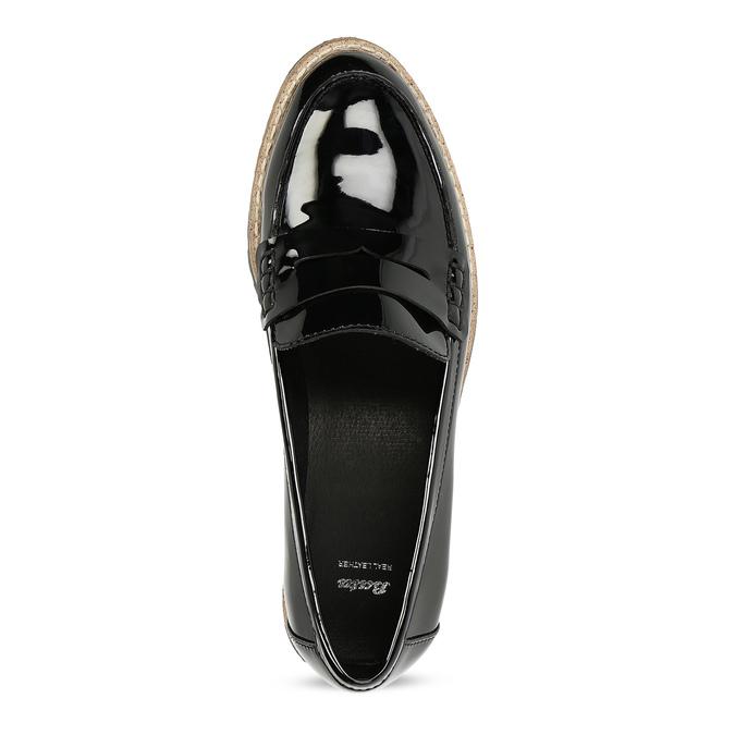 Dámské černé mokasíny lakované bata, černá, 551-6601 - 17