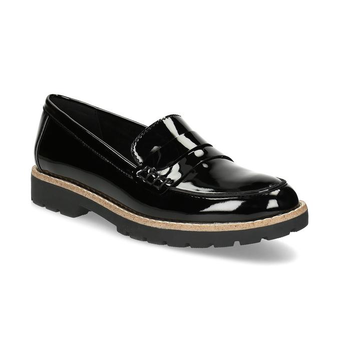 Dámské černé mokasíny lakované bata, černá, 551-6601 - 13