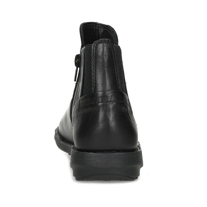 Dámská černá kožená kotníčková obuv bata, černá, 524-6618 - 15