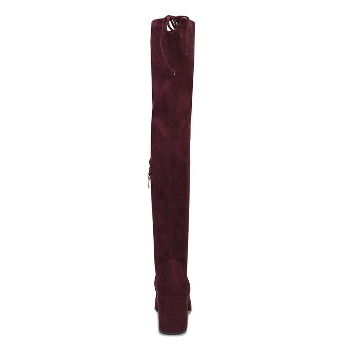 Vysoké dámské vínové kozačky se šňůrkami bata, červená, 699-5609 - 15