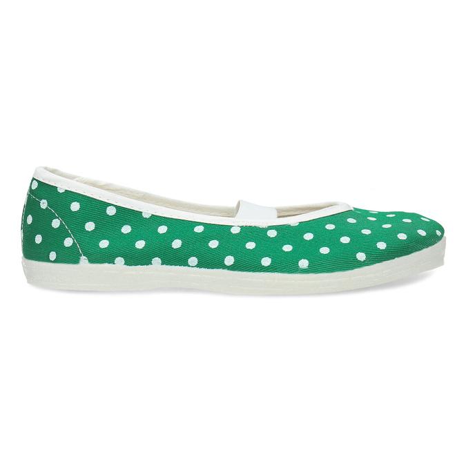 Zelené dětské přezůvky s puntíky bata, zelená, 379-7100 - 19