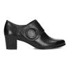 Kotníčková kožená obuv na stabilním podpatku bata, černá, 624-6609 - 19