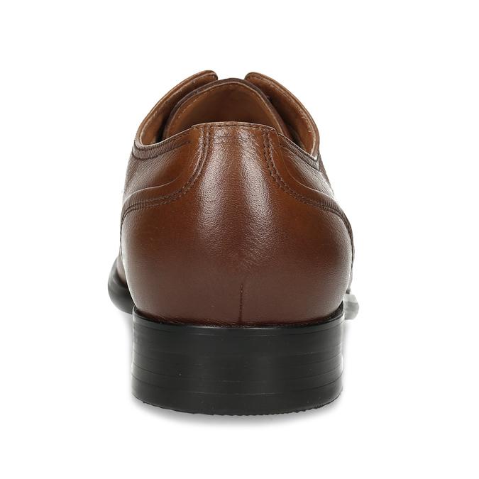 Hnědé pánské kožené Derby polobotky bata, hnědá, 826-3917 - 15