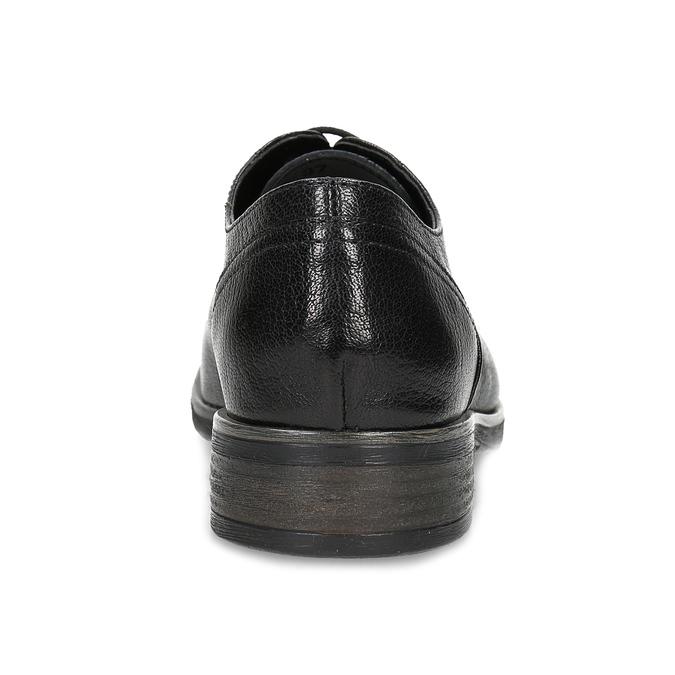 Černé dámské kožené polobotky se strukturou bata, černá, 524-6611 - 15