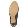 Černé dámské kožené kotníčkové kozačky insolia, černá, 794-6606 - 18