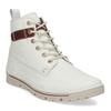 Dámská šněrovací obuv z bílé kůže weinbrenner, bílá, 596-1603 - 13