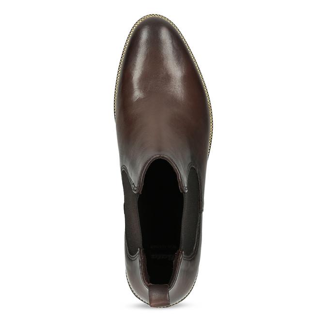 Dámská kožená hnědá Chelsea obuv bata, hnědá, 594-4645 - 17
