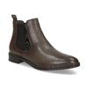 Hnědá kožená dámská Chelsea obuv bata, hnědá, 594-4655 - 13