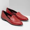 Kožené dámské mokasíny červené bata, červená, 534-5601 - 26