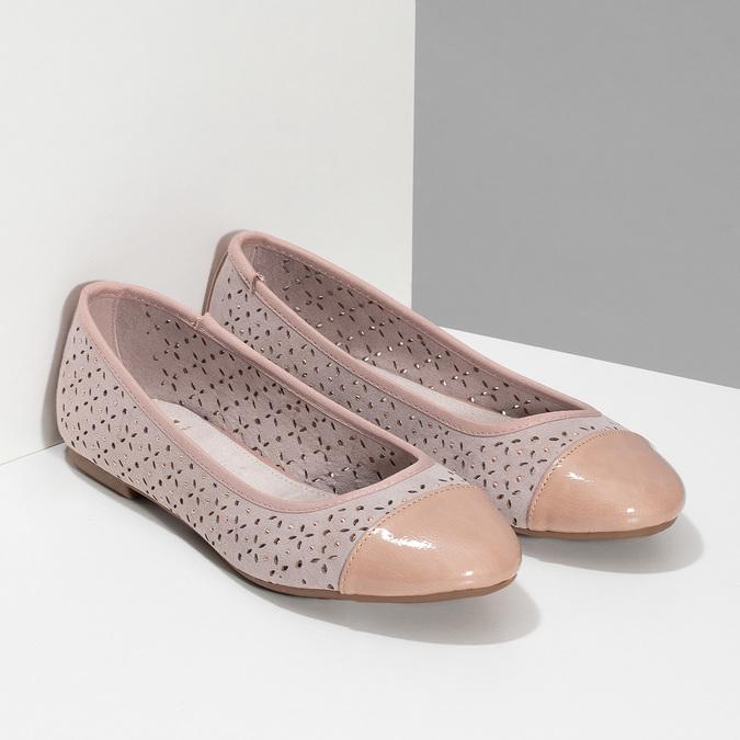 Růžové baleríny s kamínky bata, růžová, 529-8648 - 26