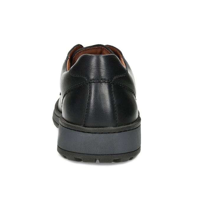 Kožené pánské černé ležérní polobotky comfit, černá, 824-6985 - 15