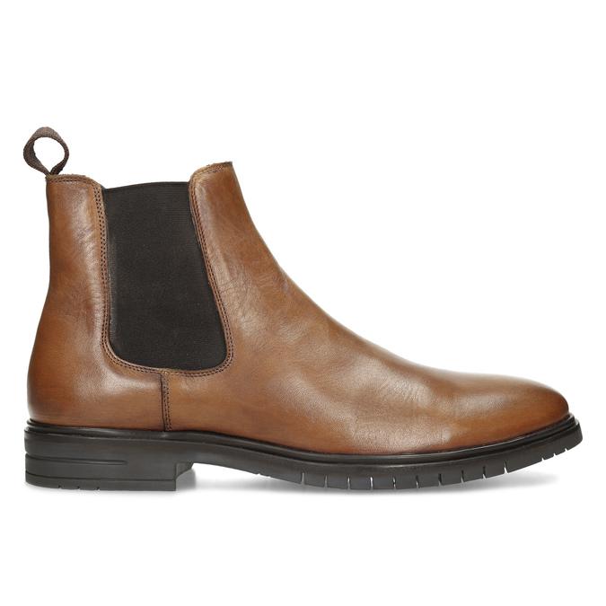 Hnědá pánská kožená Chelsea obuv bata, hnědá, 816-3629 - 19