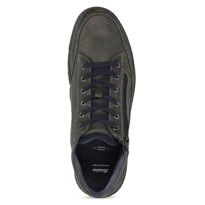 Kotníčková pánská obuv s prošitím bata, šedá, 846-2623 - 17
