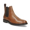 Hnědá pánská kožená Chelsea obuv bata, hnědá, 816-3629 - 13