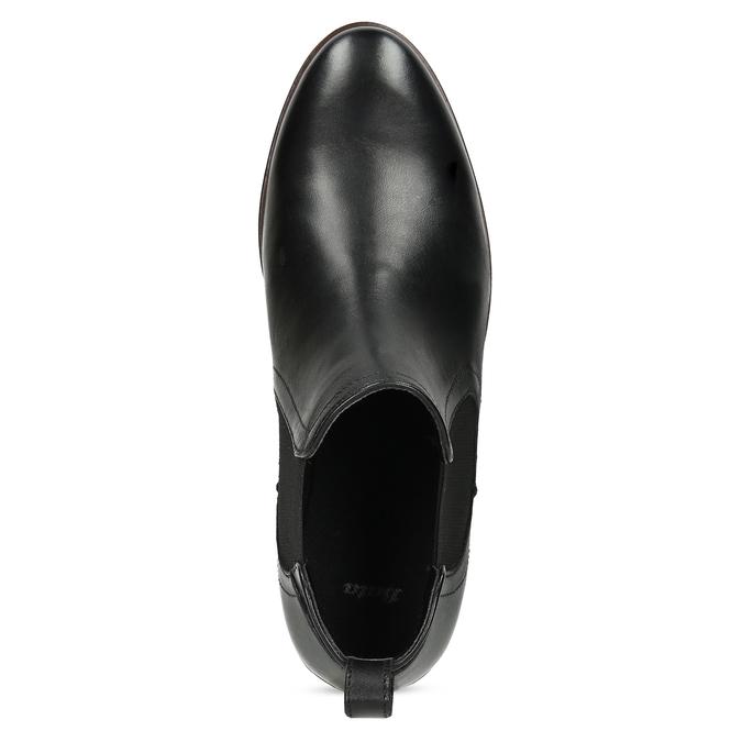 Kožená černá dámská Chelsea obuv bata, černá, 594-6644 - 17