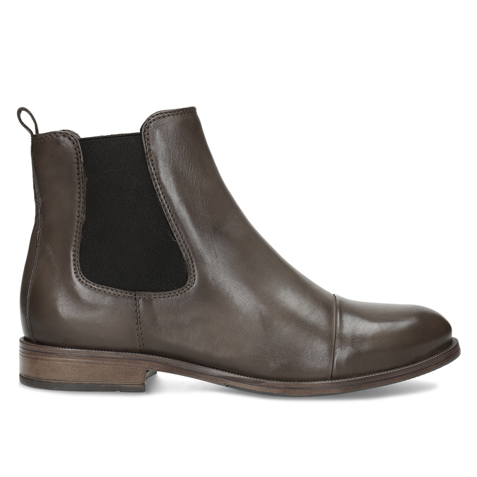 Hnědá kožená dámská Chelsea obuv bata, hnědá, 594-4626 - 19