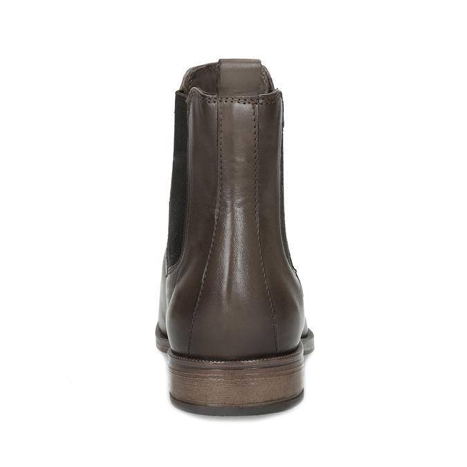 Hnědá kožená dámská Chelsea obuv bata, hnědá, 594-4626 - 15