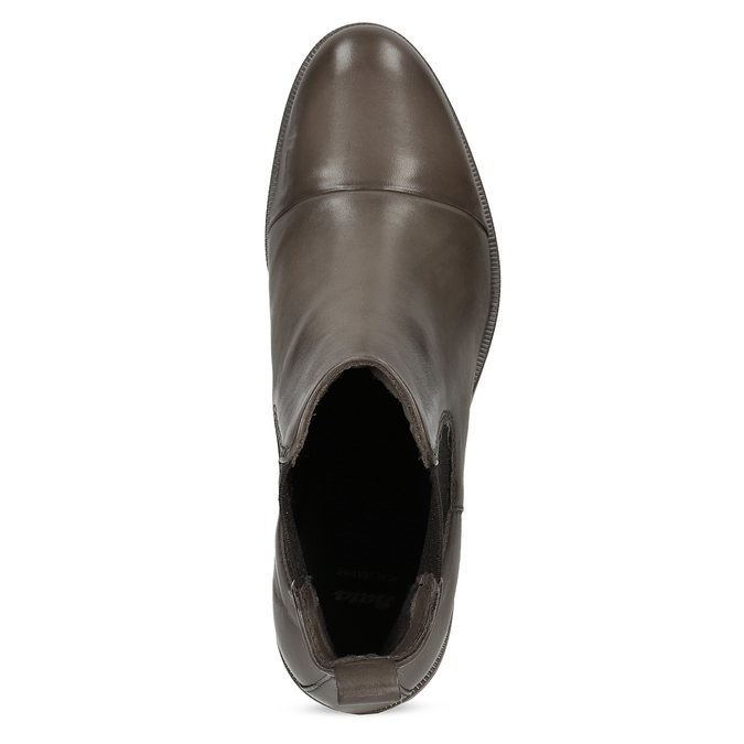 Hnědá kožená dámská Chelsea obuv bata, hnědá, 594-4626 - 17