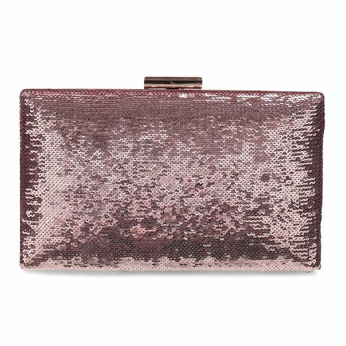 Růžové psaníčko s řetízkem a flitry bata, růžová, 961-8825 - 26