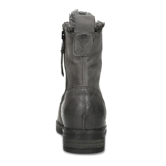 Šedé dámské kožené Ombré kozačky bata, šedá, 596-2615 - 15