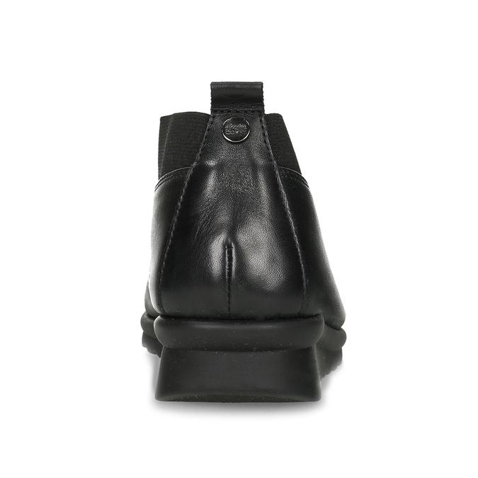 Dámské černé kožené polobotky comfit, černá, 514-6601 - 15