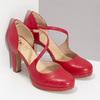 Červené kožené lodičky s asymetrickým páskem insolia, červená, 724-5662 - 26