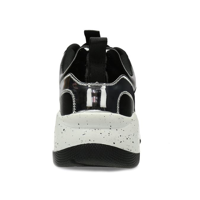 Černé dámské tenisky s masivní podešví bata, černá, 541-6610 - 15