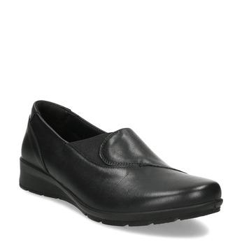 Dámské černé kožené Slip-on comfit, černá, 524-6614 - 13
