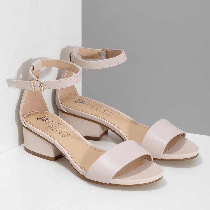 Tělové dámské sandály na nízkém podpatku insolia, růžová, 661-8620 - 26