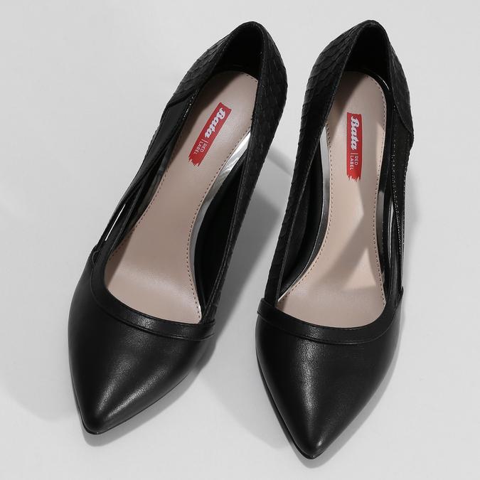 Dámské černé lodičky s průřezy bata-red-label, černá, 721-6602 - 16