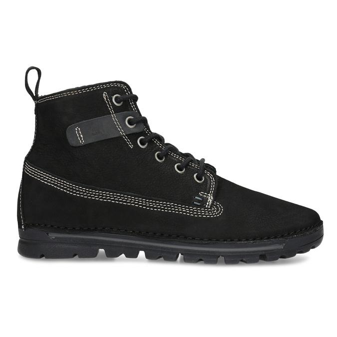 Kotníčkové kožená obuv s kontrastním prošitím weinbrenner, černá, 596-6602 - 19