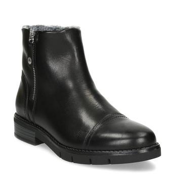 Kožená dámská kotníčková obuv se zateplením flexible, černá, 594-6619 - 13