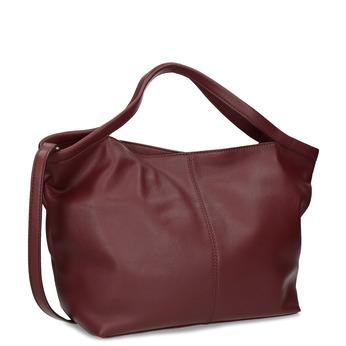 Červená dámská kožená kabelka bata, červená, 964-7628 - 13