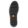 Kotníčková kožená obuv s Brogue zdobením flexible, černá, 894-6742 - 18