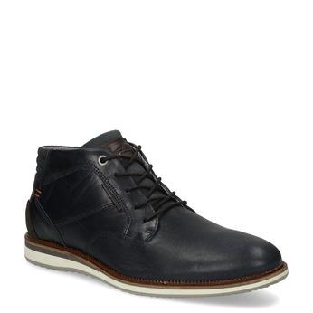 Tmavě modrá pánská kožená kotníčková obuv bata, modrá, 826-9663 - 13