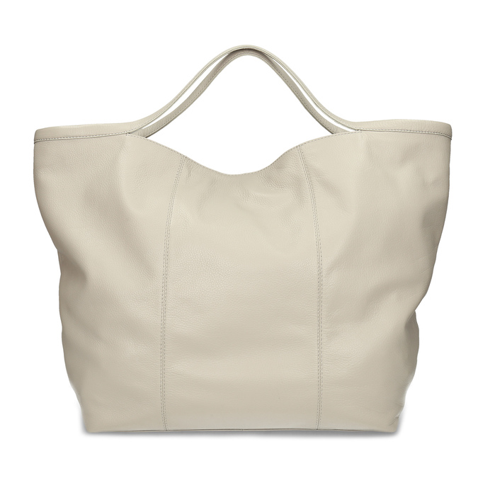 Béžová dámská kožená kabelka bata, béžová, 964-2629 - 16