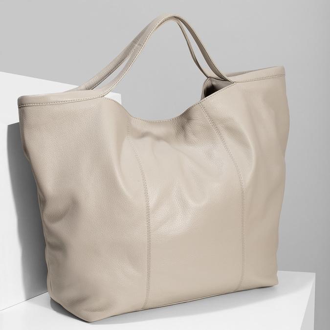 Béžová dámská kožená kabelka bata, béžová, 964-2629 - 17