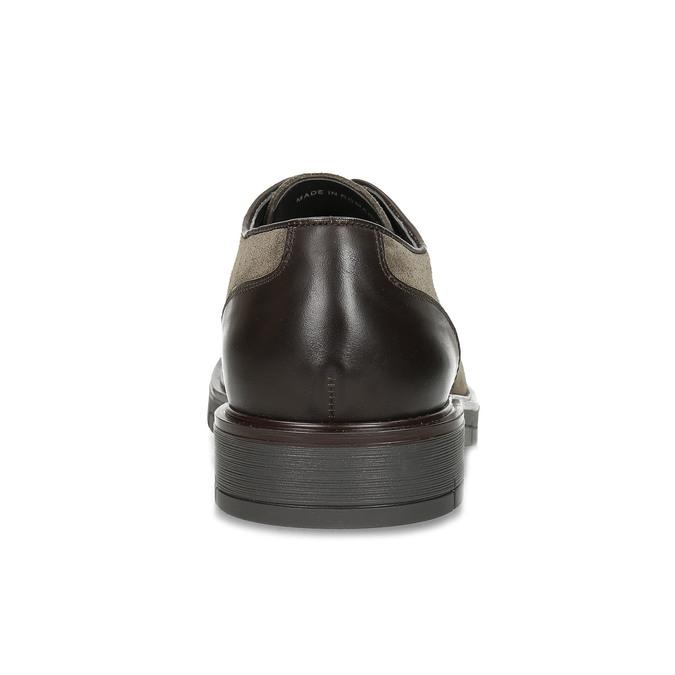 Pánské ležérní polobotky z broušené kůže flexible, šedá, 823-8961 - 15