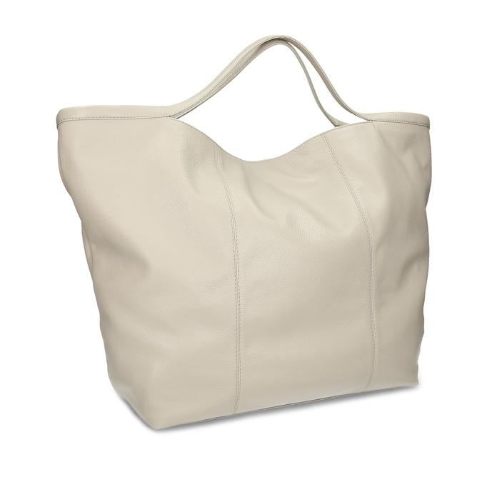 Béžová dámská kožená kabelka bata, béžová, 964-2629 - 13